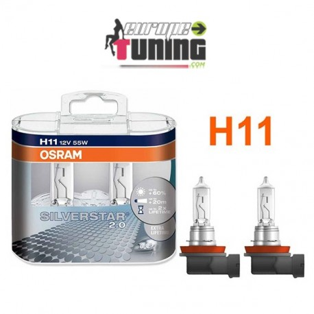 2 AMPOULES OSRAM H11 55W SIlVERSTAR (01002)