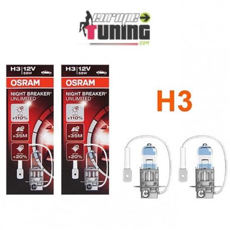 2 AMPOULES OSRAM H3 55W NIGHT BREAKER UNLIMITED (01028)