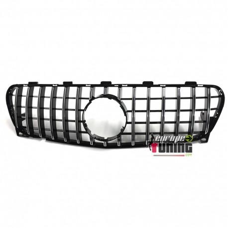 CALANDRE SPORT LOOK GTR NOIRE ET CHROME POUR MERCEDES GLA X156 (04743)