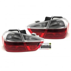 FEUX HELLA ROUGES CLAIRS BMW SERIE 3 E90 BERLINE PHASE 1 2005-2008 (04749)