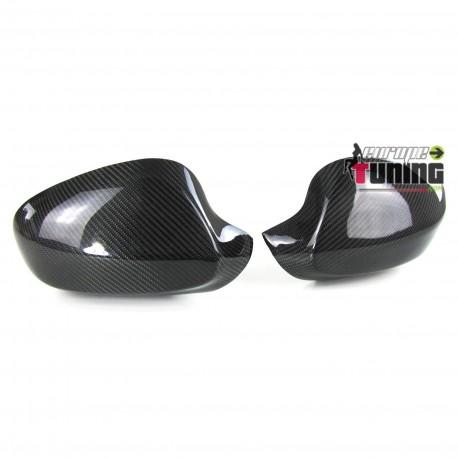 COUVRES COQUES DE RETROVISEURS EN VERITABLE CARBONE BMW SERIE 3 E92 & E93 (04795)