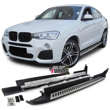 MARCHES PIEDS EN ALUMINIUM POUR BMW X4 TYPE F26 DE 2014 A 2018 (04813)