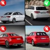 DIFFUSEUR SPORT PACK RS3 DOUBLE SORTIE INOX AUDI A3 8V BERLINE & CABRIOLET (04861)
