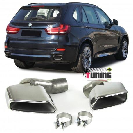 DOUBLE SORTIE DUPLEX INOX SILENCIEUX ECHAPPEMENT SPORT PACK V8 POUR BMW X5 F15 (04885)