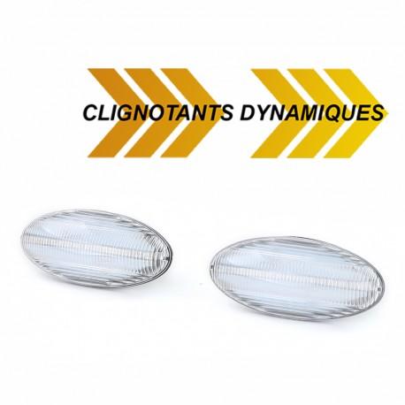 REPETITEURS CLIGNOTANTS LEDS DYNAMIQUES PEUGEOT 206 307 ...CITROEN C2 C3 ...(05277)