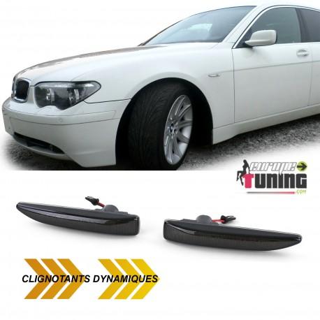 REPETITEURS NOIRS CLIGNOTANTS LED DYNAMIQUE BMW SERIE 7 E65 E66 E67 E68 (05298)
