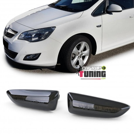 REPETITEURS NOIRS CLIGNOTANTS LED OPEL ASTRA J ZAFIRA C CROSSLAND X ...(05300)