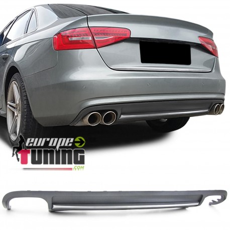 DIFFUSEUR ARRIERE SPORT LOOK PACK S4 AUDI A4 B8 PH1 2007-2011 (05333)