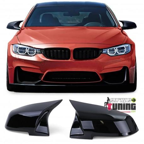 COQUES DE RETROVISEURS NOIRES LIGNE PACK M BMW F20 F30 F31 F32 F33 F34 F36 X1 (05358)