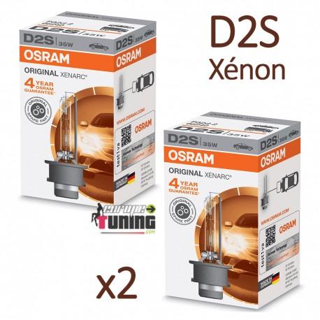 2 AMPOULES XENON D2S OSRAM XENARC ORIGINAL 4500K 35W 85V (05439)